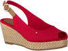 Rode TOMMY HILFIGER Espadrilles ICONIC ELBA BASIC SLING BACK  - small