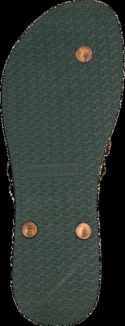 Groene UZURII Slippers BLACK FLOWER - large