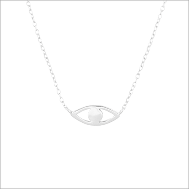 Zilveren ALLTHELUCKINTHEWORLD Ketting FORTUNE NECKLACE EYE - large