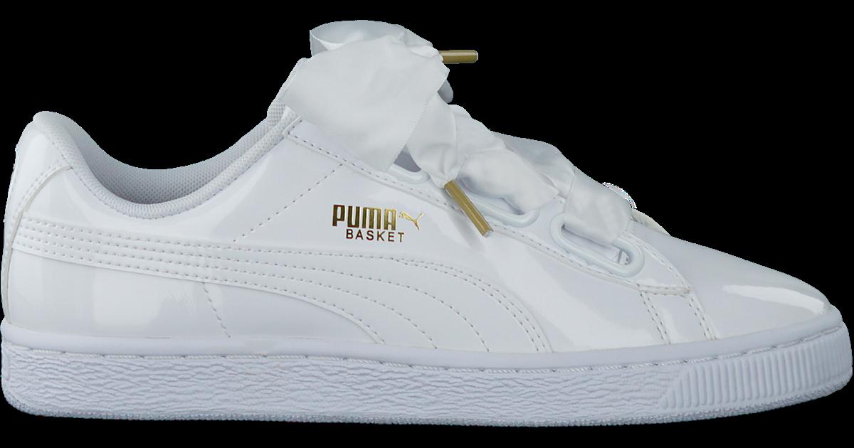 Witte PUMA Sneakers BASKET HEART PATENT - Omoda