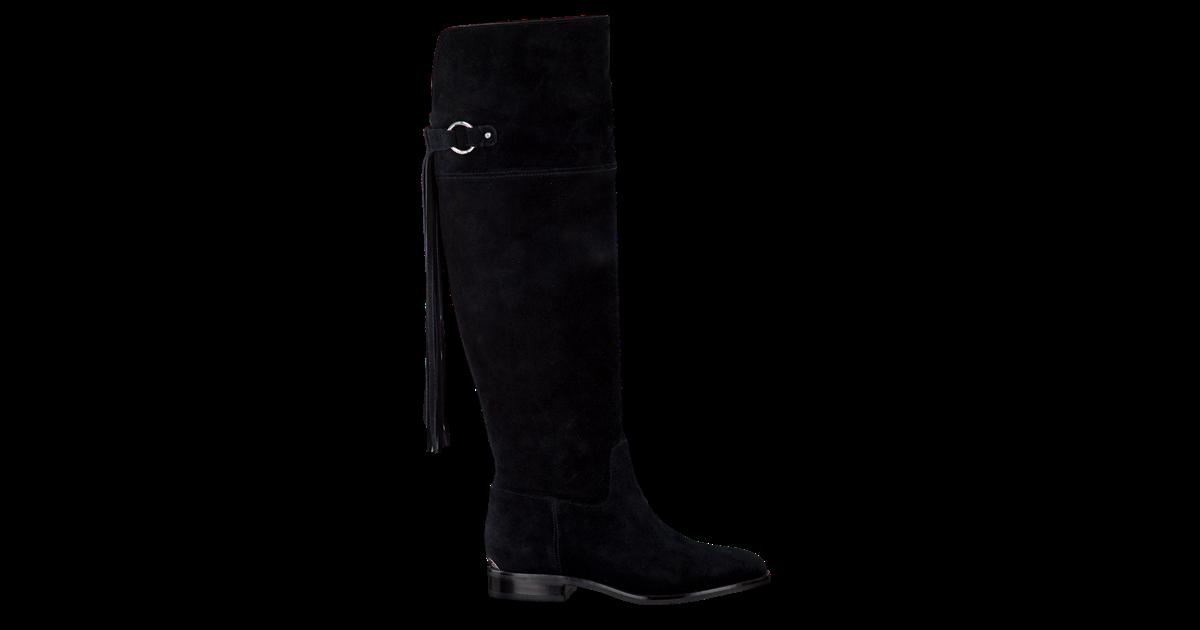 Zwarte MICHAEL KORS Lange laarzen RHEA FLAT BOOT | Omoda