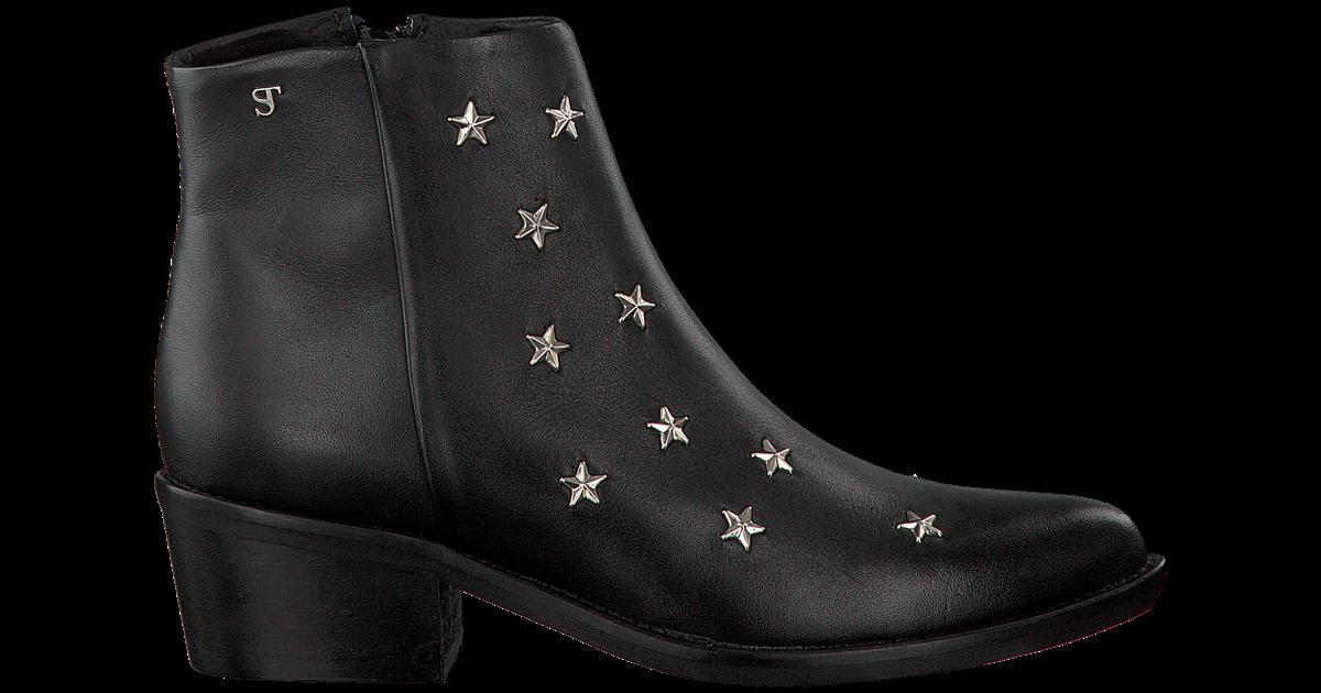 Zwarte SUPERTRASH Enkellaarsjes CHARLIE STARS | Omoda